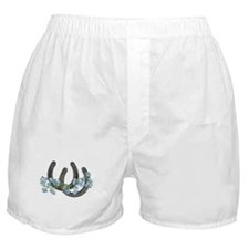 Forget me not horseshoes Boxer Shorts