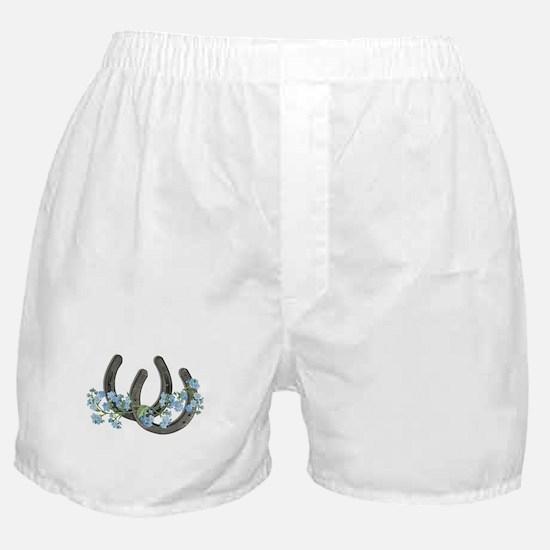 Forget me not horseshoes Boxer Shorts