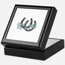 Forget me not horseshoes Keepsake Box