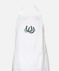 Forget me not horseshoes Apron
