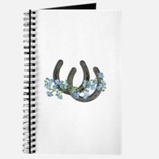 Forget me not horseshoes Journal