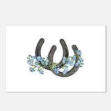 Forget me not horseshoes Postcards (Package of 8)