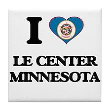I love Le Center Minnesota Tile Coaster