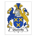 Glanville Family Crest Small Poster