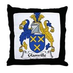 Glanville Family Crest Throw Pillow