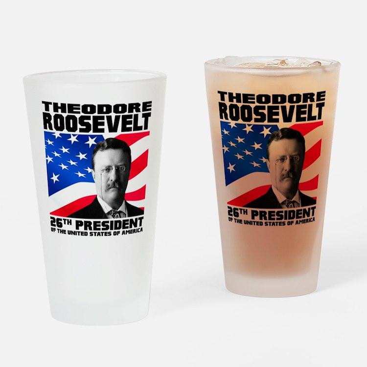 26 Roosevelt Drinking Glass