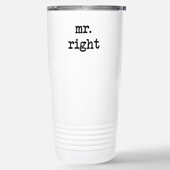 Mr. Right Stainless Steel Travel Mug