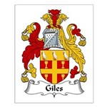 Giles Family Crest Small Poster