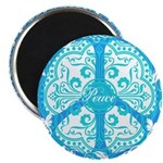 """funky peace sign 2.25"""" Magnet (100 pack)"""