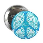 """funky peace sign 2.25"""" Button (10 pack)"""