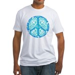 funky peace sign Fitted T-Shirt
