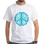 funky peace sign White T-Shirt