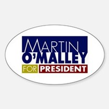 Martin O'Malley for President Sticker (Oval)