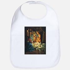 Vintage Christmas Nativity Bib