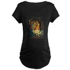 Vintage Christmas Nativity Maternity T-Shirt