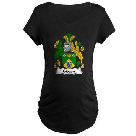 Gideon Family Crest Maternity Dark T-Shirt