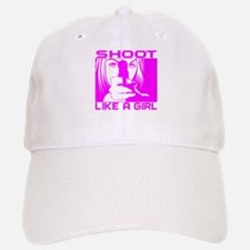 SHOOT LIKE A GIRL Baseball Baseball Cap