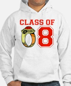 Class Of 08 (Red Class Ring) Hoodie