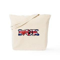 Vintage I Love UK Tote Bag