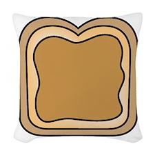 Peanut Butter Woven Throw Pillow