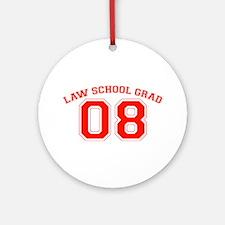 Law School Grad 08 (Red) Ornament (Round)