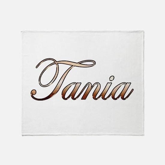Gold Tania Throw Blanket