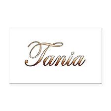 Gold Tania Rectangle Car Magnet