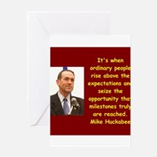 mike huckabee quote Greeting Cards