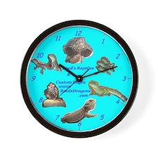 Reed's Dragons reptile Wall Clock