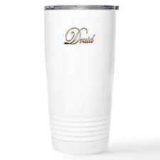 Gold Druid Travel Coffee Mug