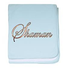 Gold Shaman baby blanket