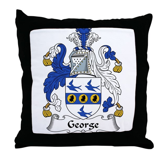 George Family Crest Throw Pillow By Familycoats2