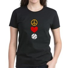 Peace Love Baseball Tee