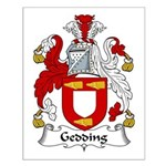 Gedding Family Crest Small Poster