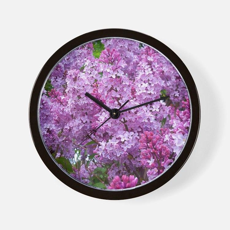 Cute Lilac Wall Clock
