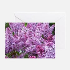 Unique Lilac Greeting Card