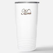 Gold Monk Stainless Steel Travel Mug