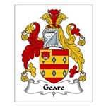 Geare Family Crest Small Poster