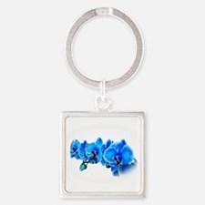 Ice blue orchids Keychains