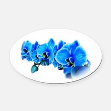 Ice blue orchids Oval Car Magnet