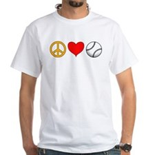 Peace Love Baseball Shirt