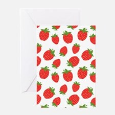 Cute Strawberry / Strawberries Patte Greeting Card