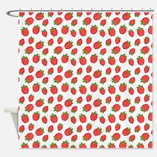 Cute Strawberry / Strawberries Patt Shower Curtain