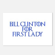 Bill Clinton for First Lady-Gam blue 400 Postcards