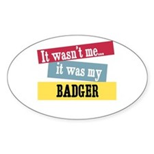 Badger Oval Decal