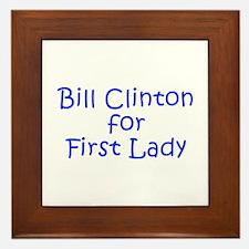 Bill Clinton for First Lady-Kri blue 400 Framed Ti