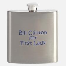 Bill Clinton for First Lady-Kri blue 400 Flask
