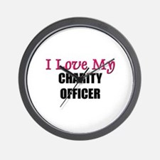I Love My CHARITY OFFICER Wall Clock