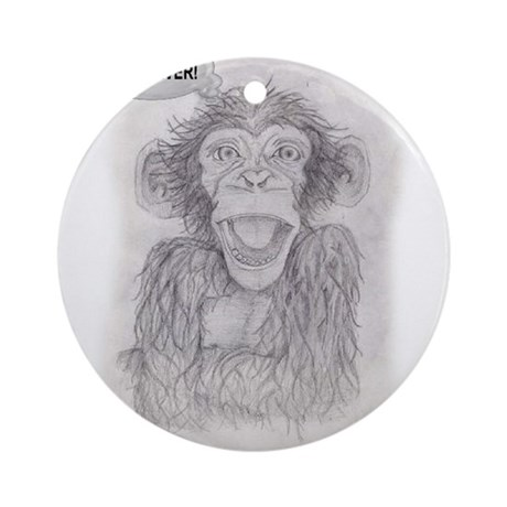 MONKEY BUSINESS Ornament (Round)