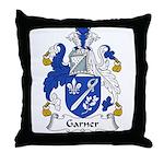 Garner Family Crest Throw Pillow